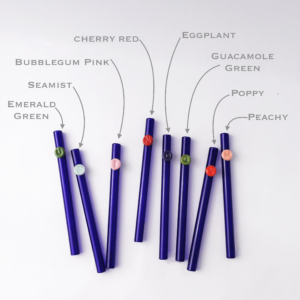 Colored Personalized Glass Straw