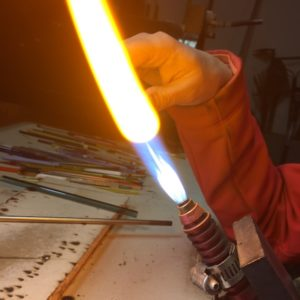 Naked Eye Torch Work - Glass Straw
