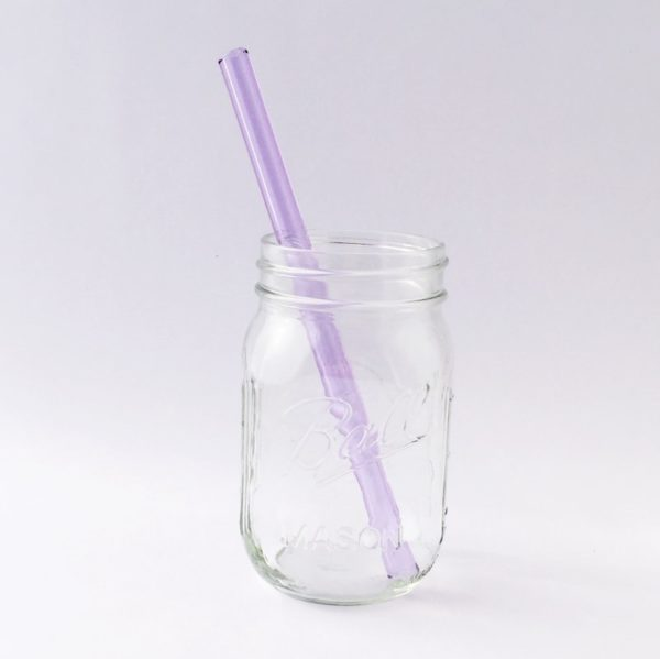 "8"" Amethyst Smoothie Glass Straw"