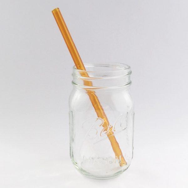 Amber Glass Straw
