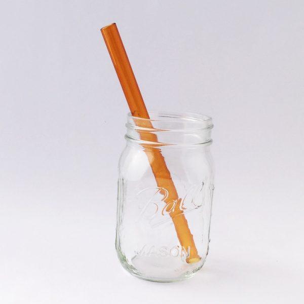 Amber Smoothie Glass Straw