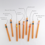Amber Personalized Glass Straws
