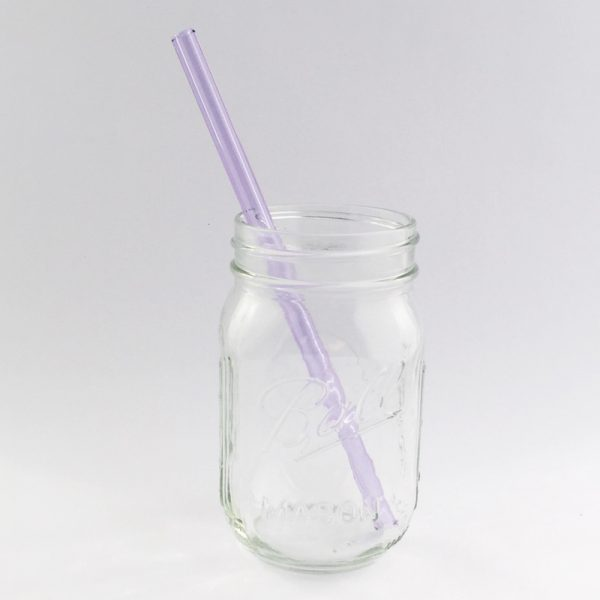 Amethyst Long Clear Straw