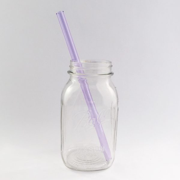 Amethyst Long Smoothie Clear Straw