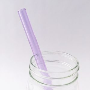Amethyst Glass Straw