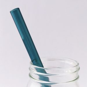 Aquamarine Glass Straw