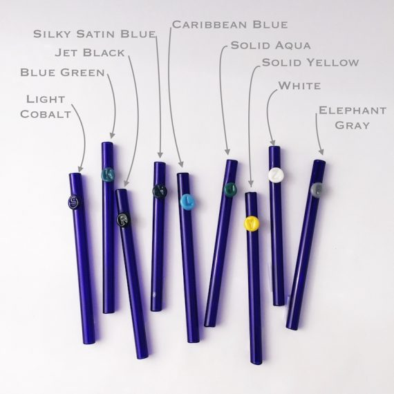 Personalized Colored Glass Straw