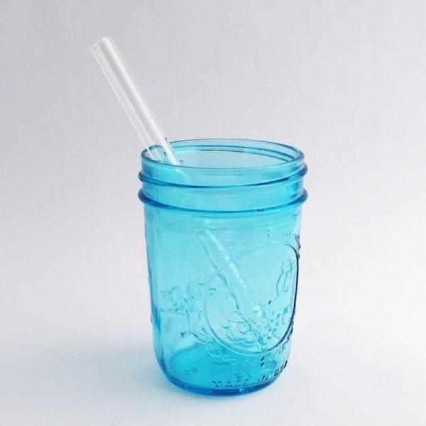 Clear Short Glass Straw