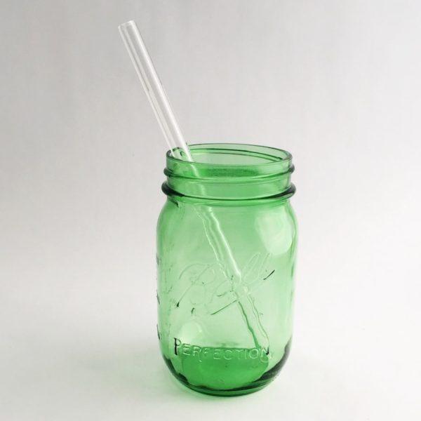 Clear Glass Straw