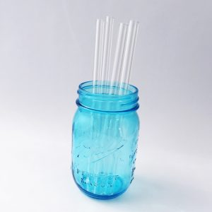 Clear Glass Straw Set