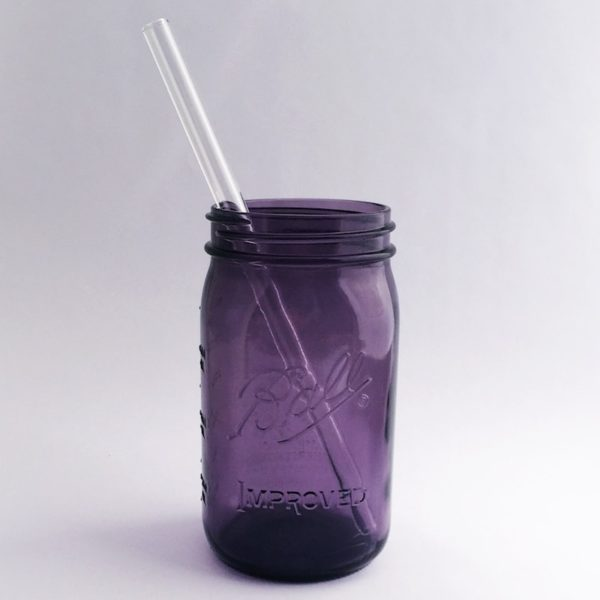 Clear Smoothie Long Glass Straw