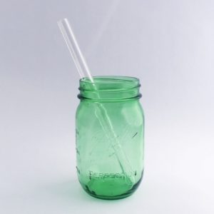 Clear Smoothie Glass Straw