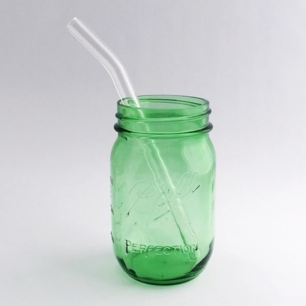 Clear Barely Bent Smoothie Glass Straw