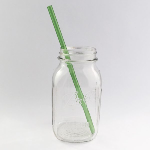 Going Green Long Glass Straw