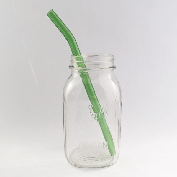 Going Green Barely Bent Long Smoothie Glass Straw