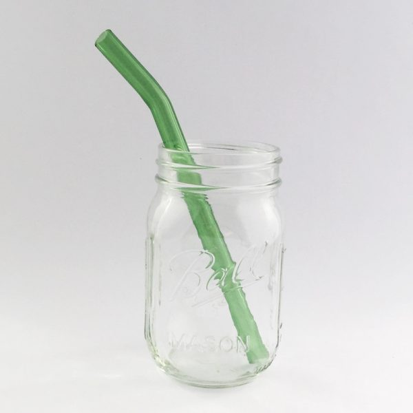 Going Green Barely Bent Smoothie Glass Straw