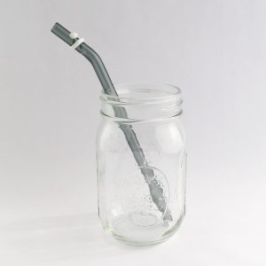 Jacobs Ladder Glass Straw