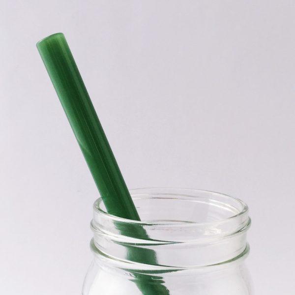 Jade Green Glass Straw