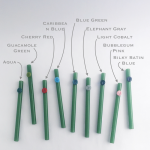 Jade Green Personalized Glass Straws