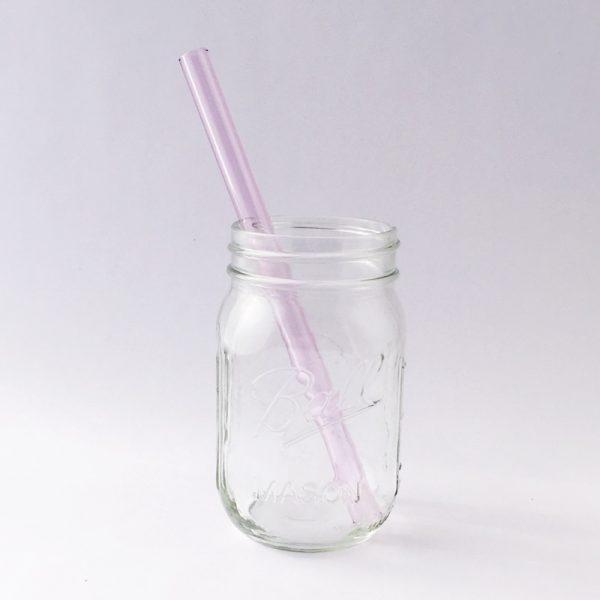 Pink Sapphire Smoothie Glass Straw