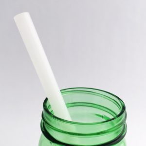 Stark White Glass Straw