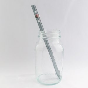 Storm Long Smoothie Glass Straw