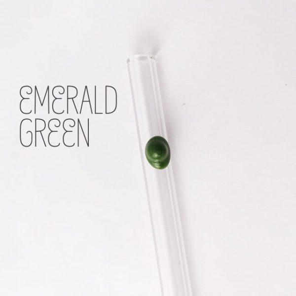 Emerald Green Skinny Glass Straw