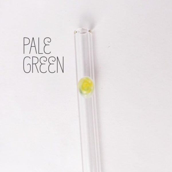 Pale Green Skinny Glass Straw