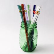 Custom Designed Glass Straw Set