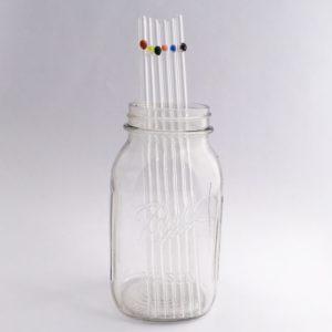 "11.5"" Starbucks Venti Skinny Designer Glass Straws"