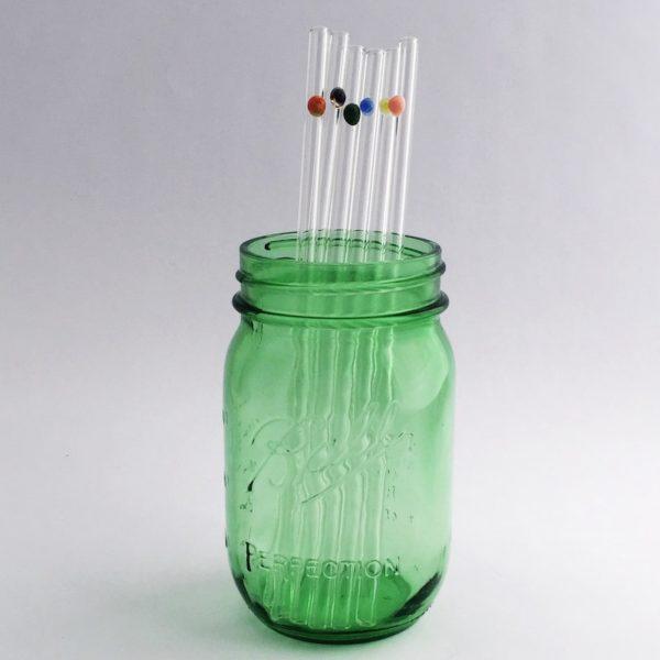 "8"" Skinny Designer Glass Straws"