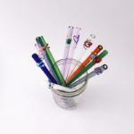 Designer Glass Drinking Straw Set