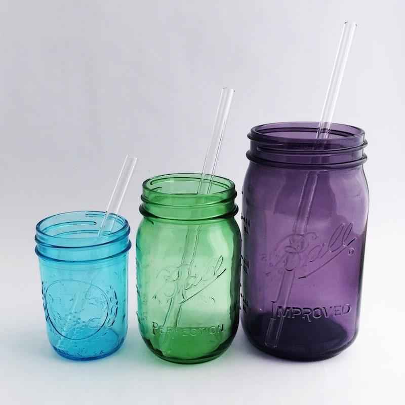 Glass Straws Various Lengths
