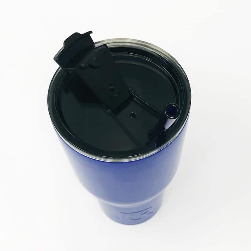 30oz RTIC Royal Blue Insulated Tumbler with Glass Straw