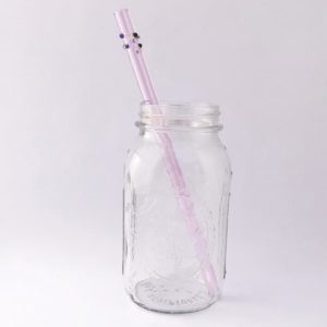 Diva Long Smoothie Glass Straw