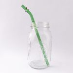 Enchanted Barely Bent Long Glass Straw