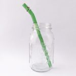 Enchanted Barely Bent Long Smoothie Glass Straw