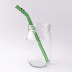 Enchanted Barely Bent Glass Straw