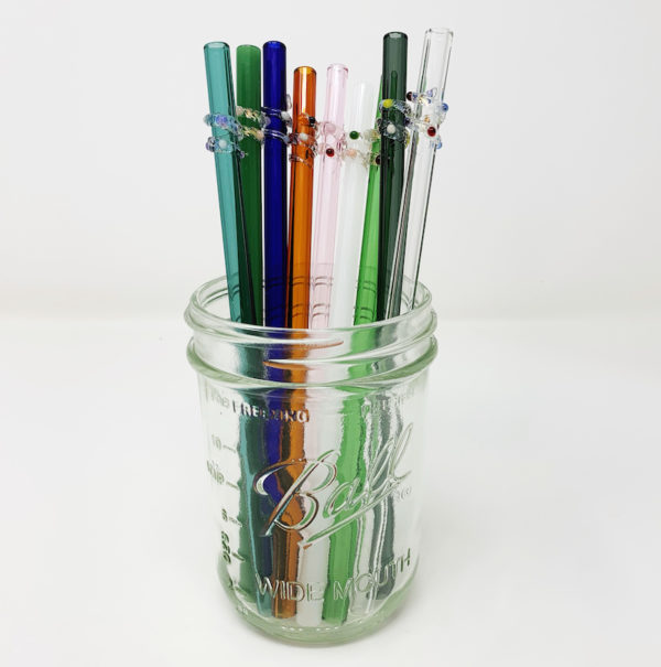 Enchanted Collection of Glass Straws