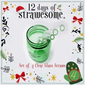 Clear Glass Straw Sets
