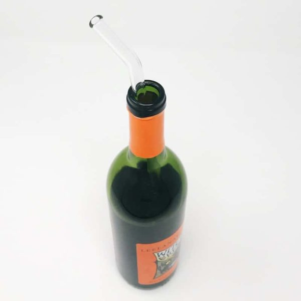 Wine Bottle Straw | Glass Straw by Strawesome