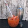 Carrot Ginger Cocktail with Straw