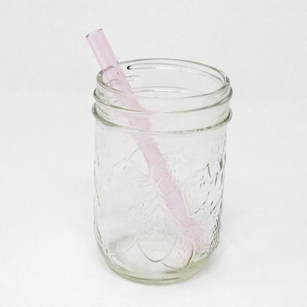 Pink Sapphire Mini Glass Straw