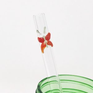 Monarch Butterfly Glass Straw