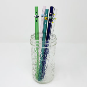 Dots Collection of Glass Straws