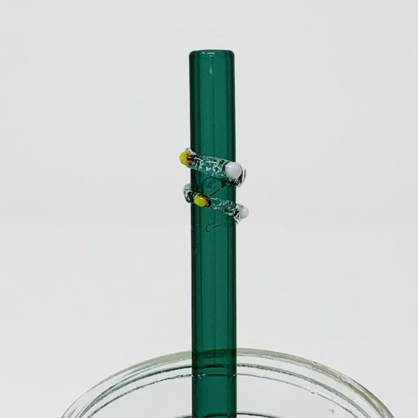 Aquamarine Enchanted Glass Straw