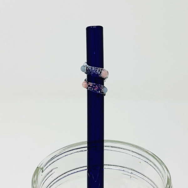 Brilliant Blue Enchanted Glass Straw