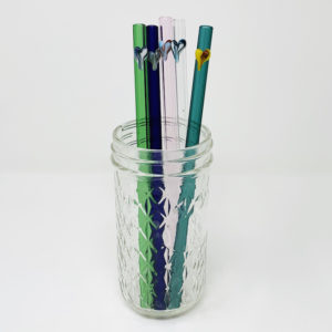 Pure Hearts Collection of Glass Straws