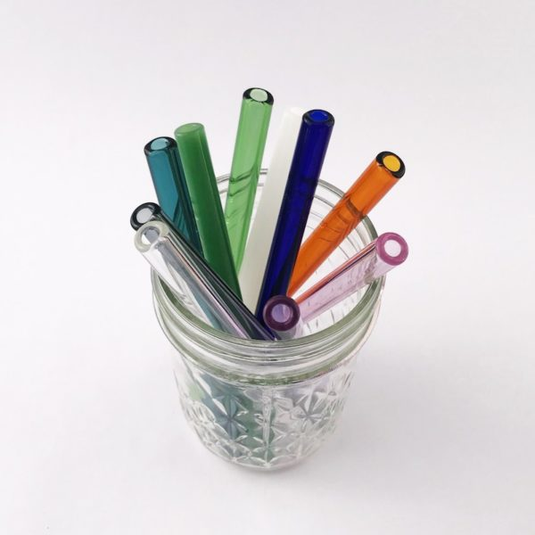 Jelly Jar Mini Glass Straws