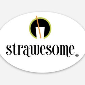 Strawesome Oval Sticker